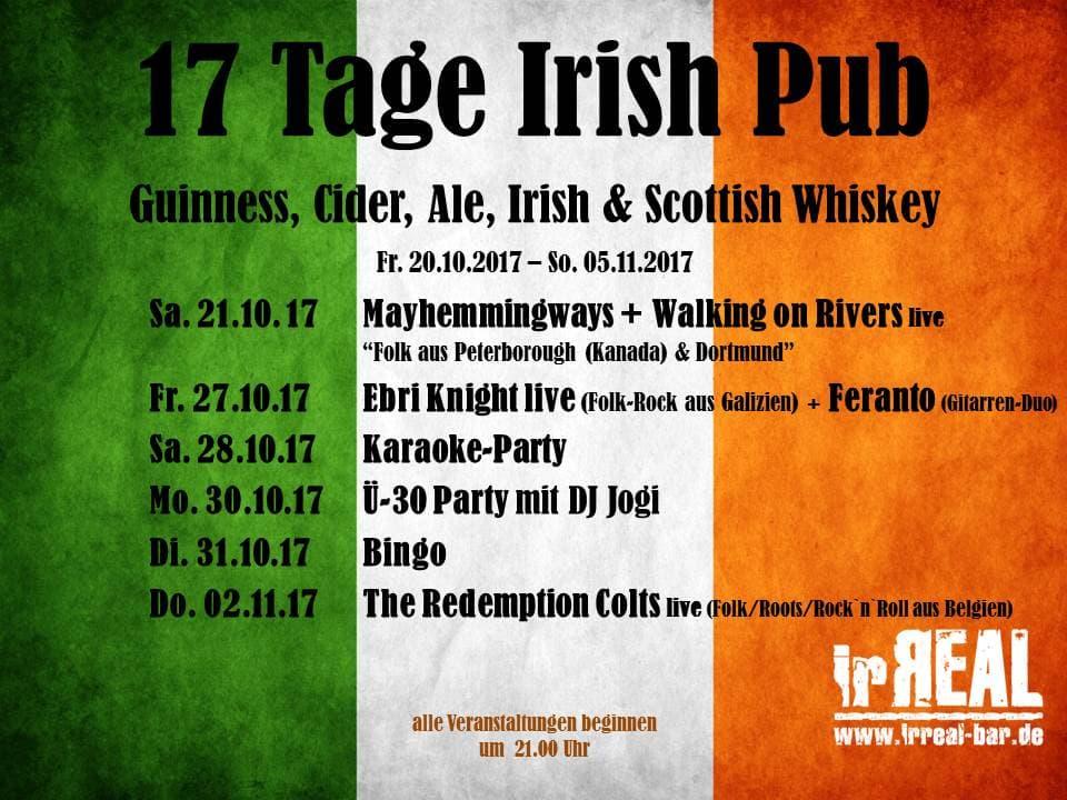 17 Tage Irish Pub