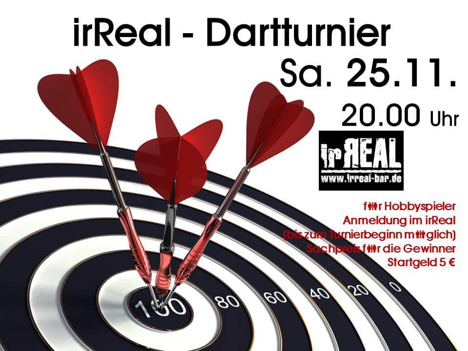 irReal-Dartturnier Sa. 25.11.2017 20 Uhr