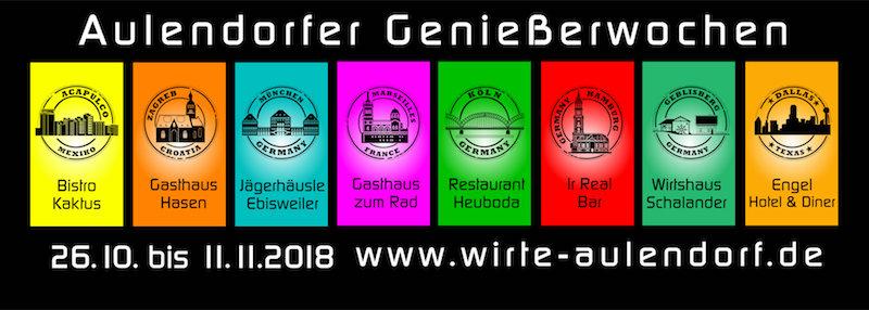 Plakat Genießerwochen Aulendorf 2018