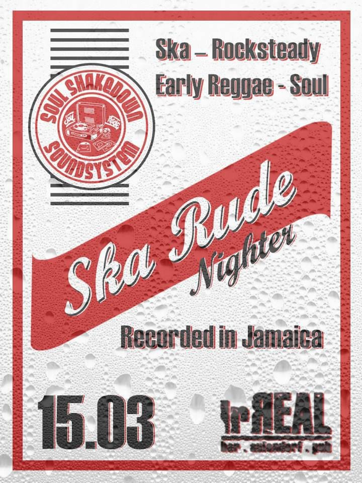 Ska Rude Nighter 15.3.2019 irReal Aulendorf